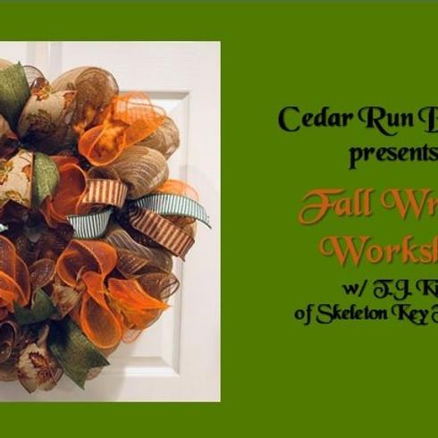 Fall Wreath Workshop @ Cedar Run Brewery