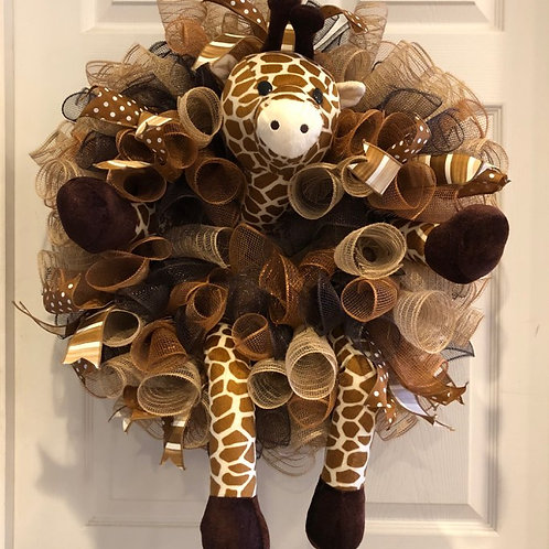 Giraffe Wreath (without sign; can be customized)