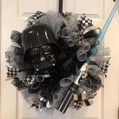 Star Wars/Darth and Luke Wreath w/ light-up light saber