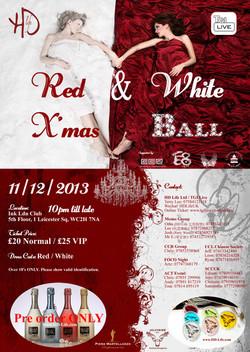 Red & White X'mas Ball