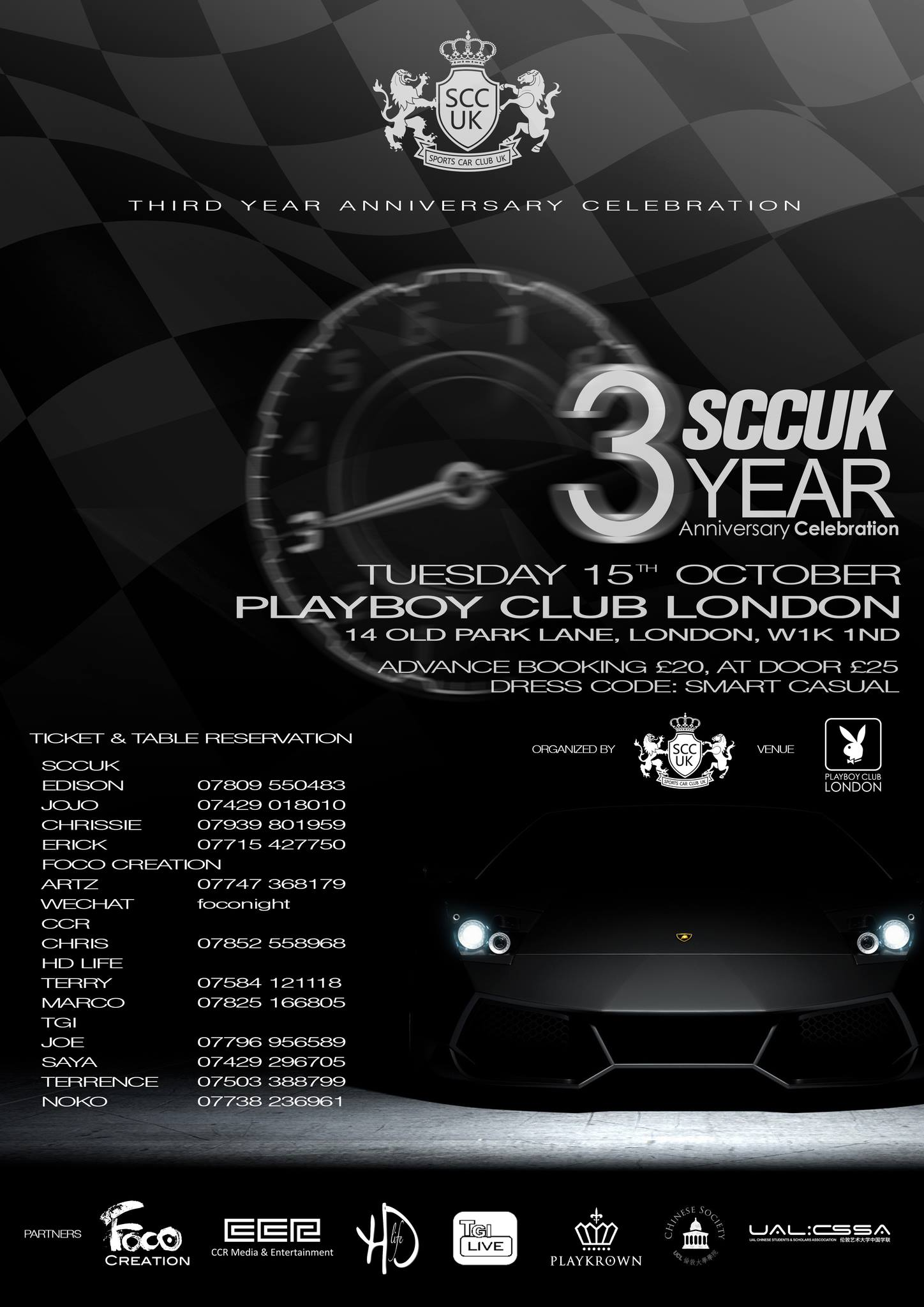 SCCUK 3rd Anniversary @ Playboy