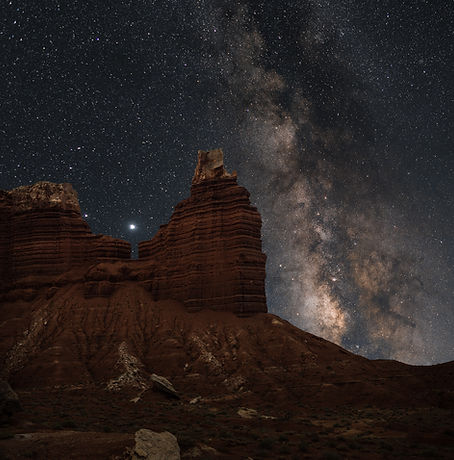 Chimney Rock Capitol Reef National Park Milky Way