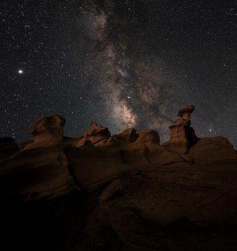 Milky Way over Valley of Dreams New Mexico
