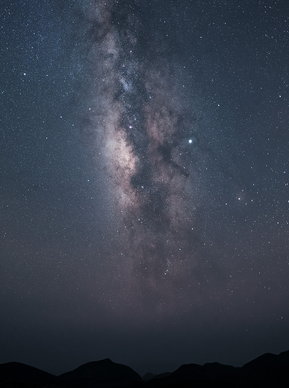 milky way, mountains, space, night sky