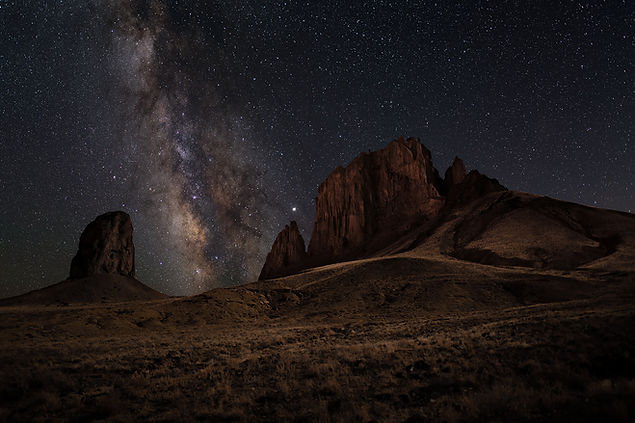 Shiprock New Mexico Milky Way