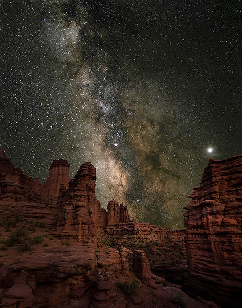 Fisher Towers Moab Utah Milky Way