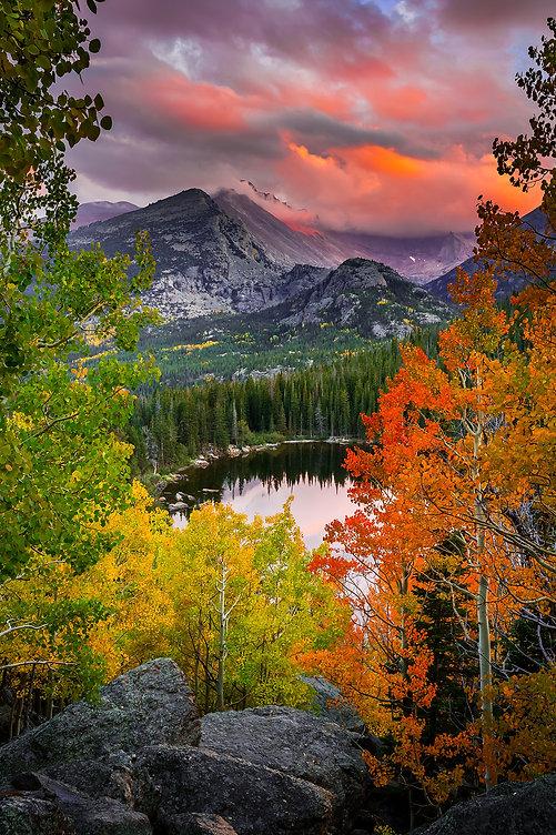 Longs Peak Bear Lake Rocky Mountain National Park Fall