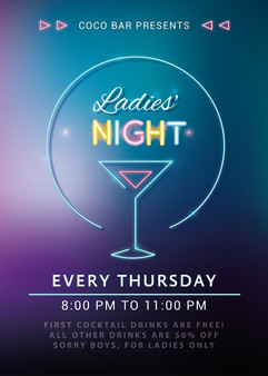 Boracy Red Coco Bar Ladies Night