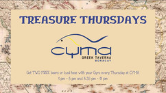 Treasure Thursdays - with Greek Food at Cyma