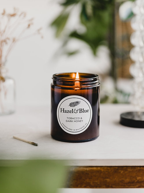 Tobacco & Dark Honey Amber Soy Candle