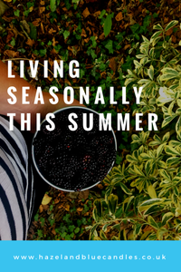 hazel and Blue blog post, living seasonally this summer, summer activities, things to do this summer