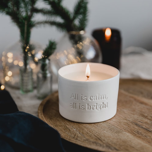 'All Is Calm, All Is Bright' Soy Candle