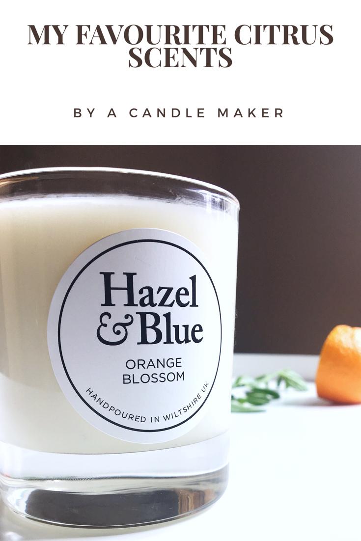 best citrus scents, citrus candles, best citrus candles, hazel and blue candles, favourite citrus scents, orange soy candles, soy candles, lemon candles