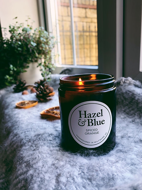 Spiced Orange Cinnamon and Clove Amber Soy Candle