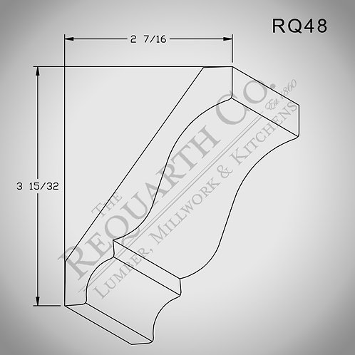 RQ48 Crown Mould 9/16 x 4-1/4