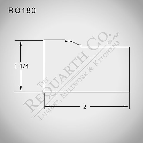 RQ180 Brick Mould 1-1/4 x 2