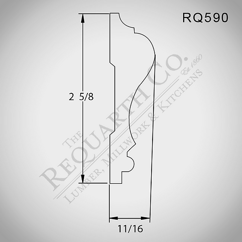 RQ590 Chair Rail 11/16 x 2-5/8