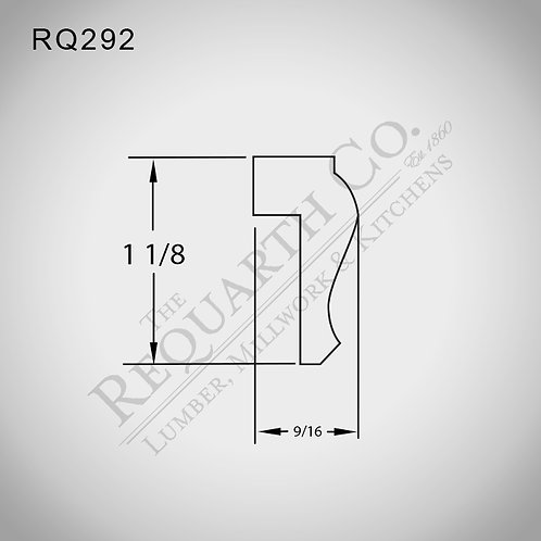 RQ292 Cap Mould 9/16 x 1-1/8