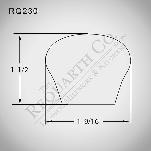 RQ230 Hand Rail 1-1/2 x 1-9/16