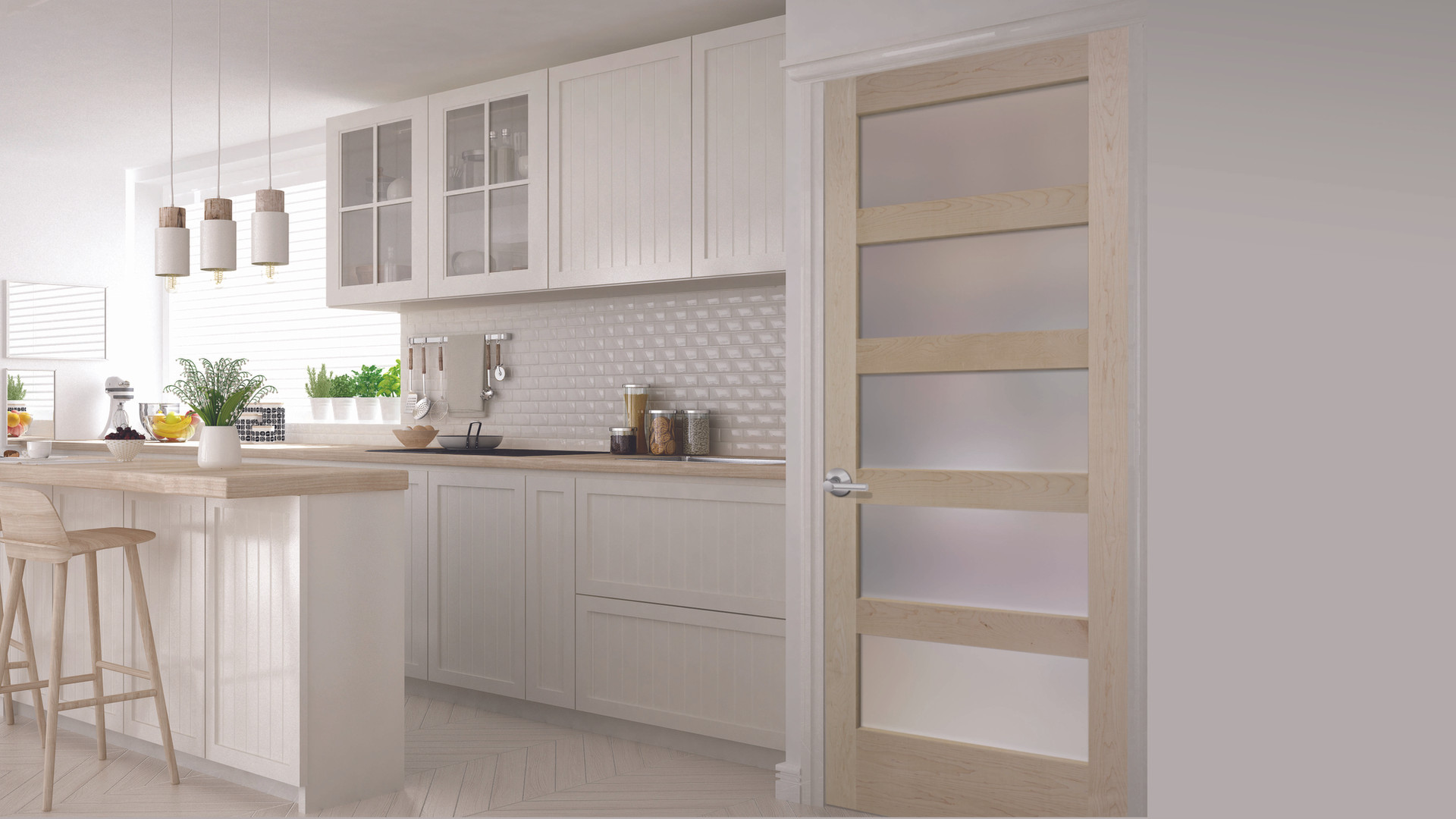 WOOD-C55-Maple-wGlazing-Frosted-Kitchen-