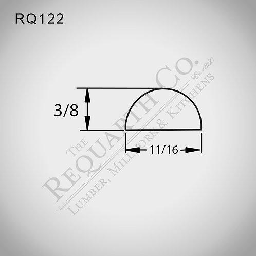 RQ122 Half Round 3/8 x 11/16