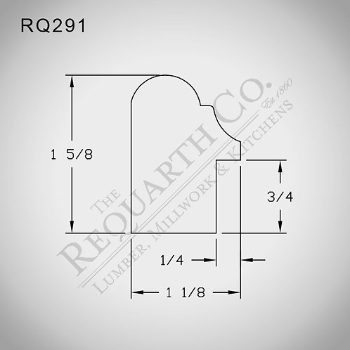 RQ291 Backband 1-1/8 x 1-5/8
