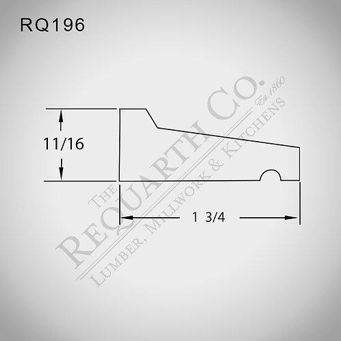 RQ196 Drip Cap 11/16 x 1-3/4
