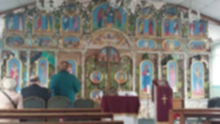 New ikonostas in the Ukrainian church in Coventry