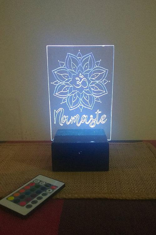 Mandala Namaste Luminária Artesanal Acrílico