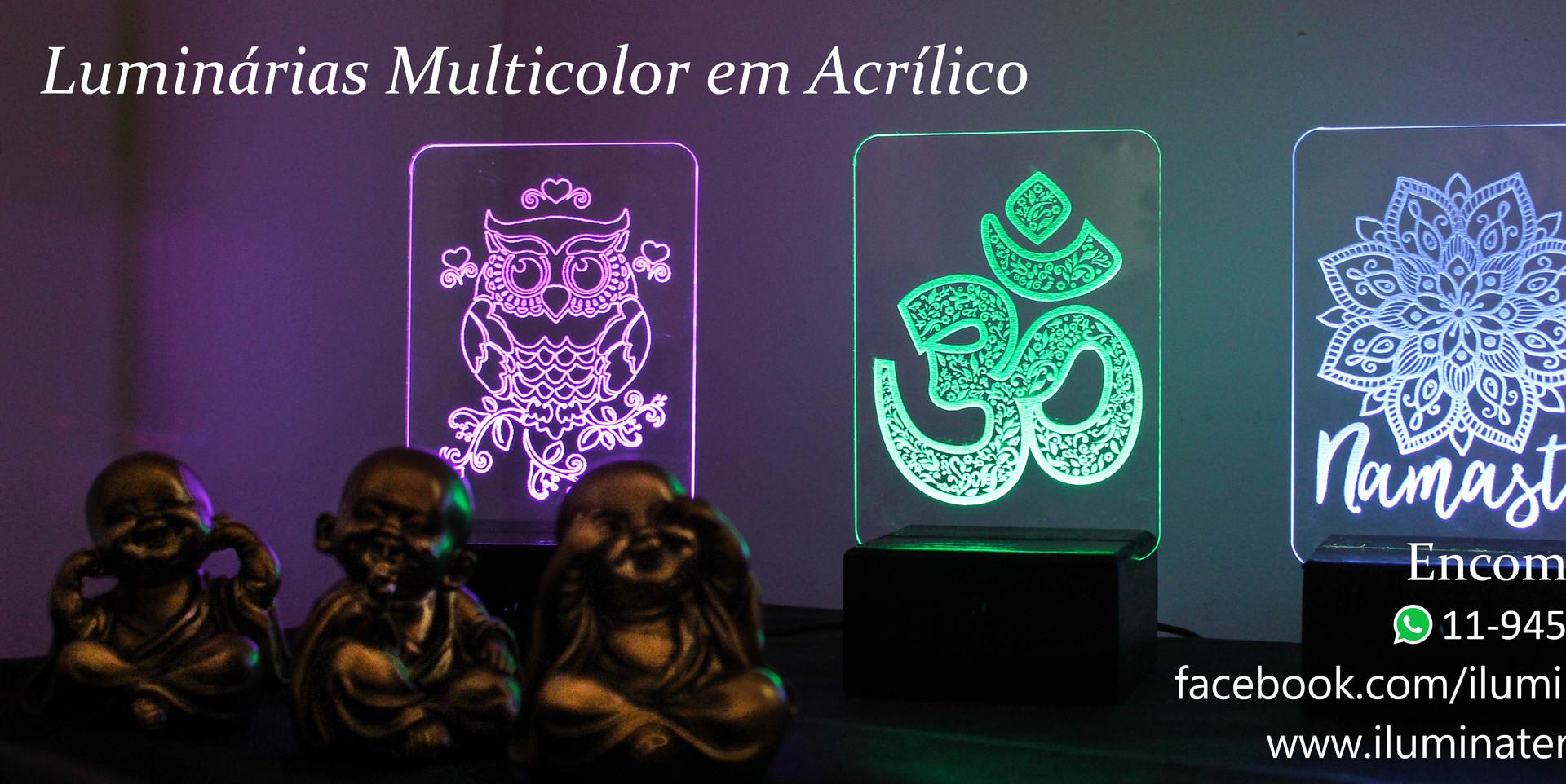 Luminárias Multicoloridas