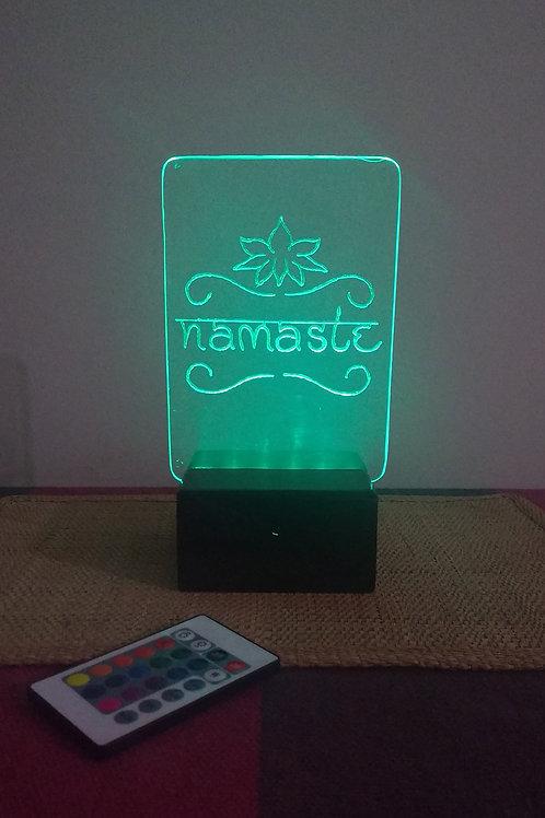 Namaste Luminária Artesanal Acrílico