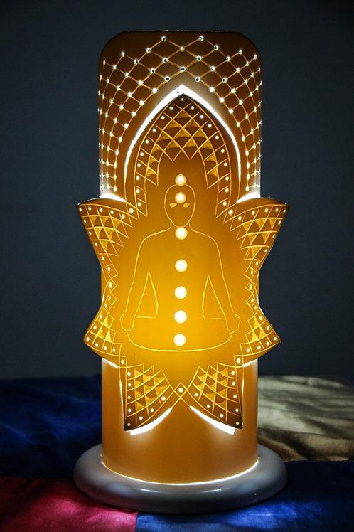 Luminária Artesanal Meditação aos Chakras
