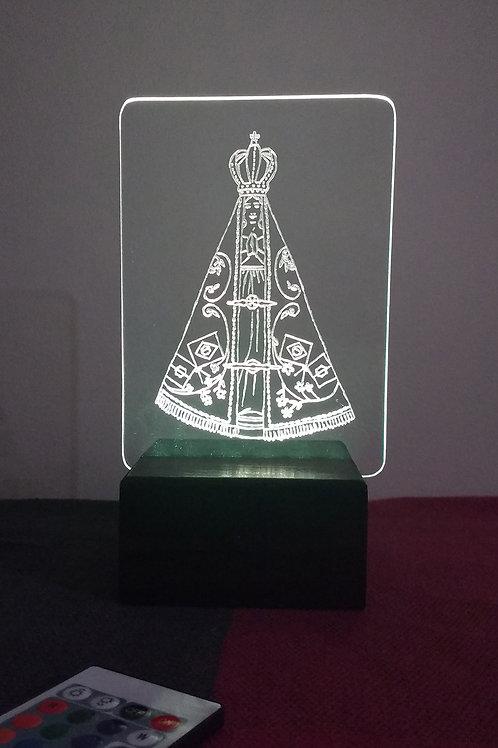 Nossa Senhora Aparecida Luminária Artesanal Acrílico