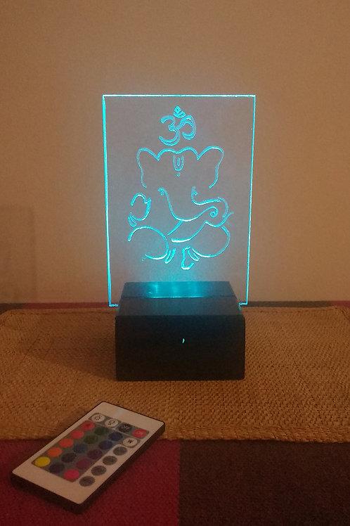Lorde Ganesha Luminária Artesanal Acrílico