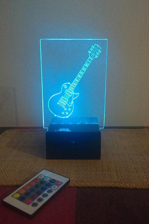 Guitarra Luminária Artesanal Acrílico
