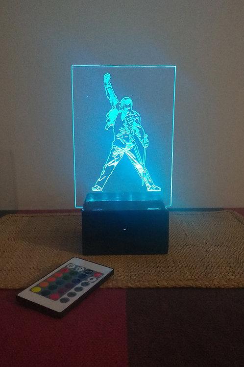 Freddie Mercury Luminária Artesanal Acrílico