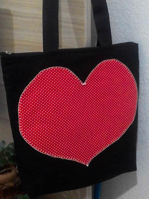 Bolsa Coração Cheio de Amor