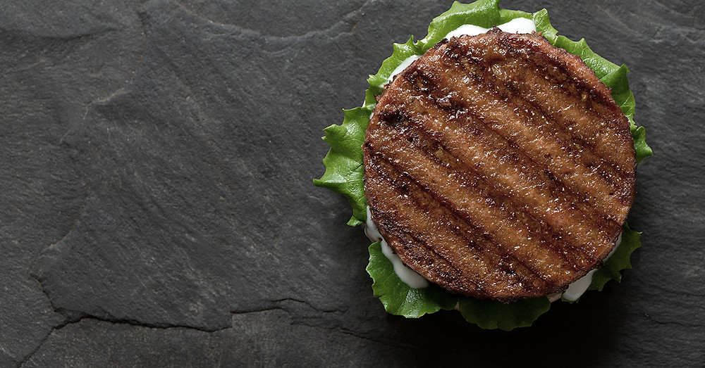 plant based protein burger with saturated fats.