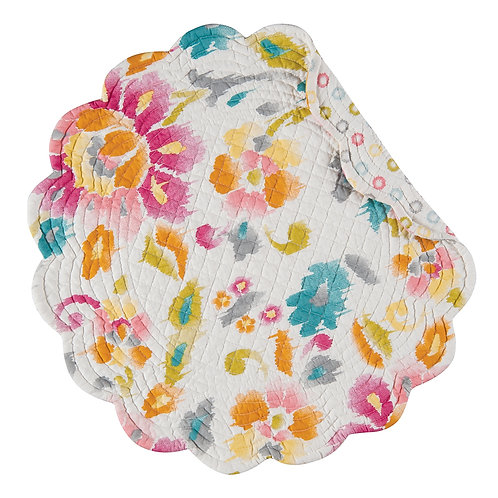 SASHA QUILTED PLACEMAT (ROUND OR RECTANGLE)