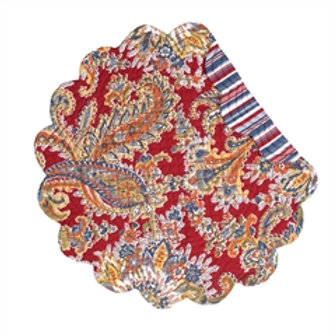 RHAPSODY PAISLEY QUILTED PLACEMAT