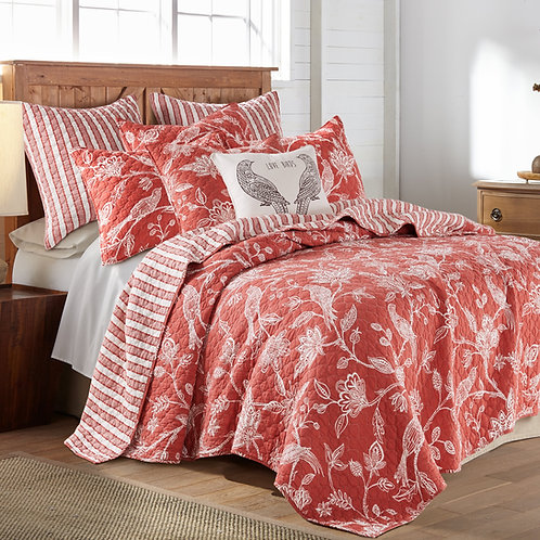 TANZIE RED QUILT SET