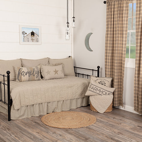 SAWYER MILL CHARCOAL TICKING DAY BED SET