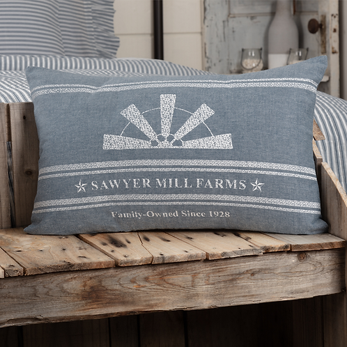 SAWYER MILL BLUE WINDMILL BLADE PILLOW