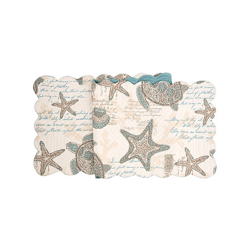 AMBER SANDS QUILTED TABLE RUNNER