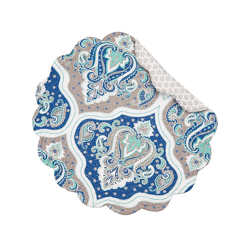 RENEE QULTED PLACEMAT (ROUND OR RECTANGLE)
