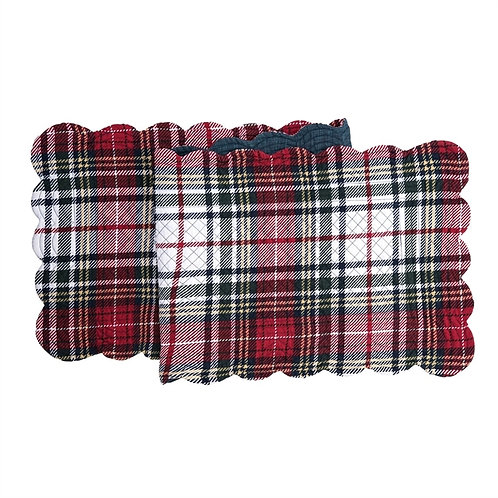 LENNOX PLAID QUILTED TABLE RUNNER
