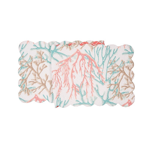 OCEANAIRE SEAFOAM QUILTED TABLE RUNNER