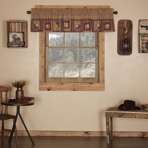 MILLSBORO VALANCE CURTAIN LOG CABIN BLOCK BORDER