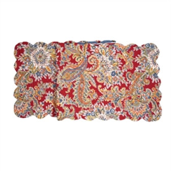 RHAPSODY PAISLEY QUILTED TABLE RUNNER