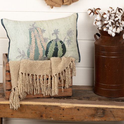 EMBROIDERED GOURD PILLOW